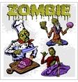 Cartoon zombie - set vector image vector image