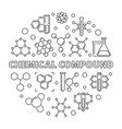 chemical compound round outline vector image