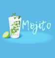 cocktail mojito vector image vector image
