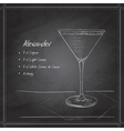 coctail alexandr on black board vector image