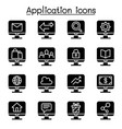 computer application icon set vector image vector image