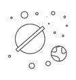 cosmos line icon vector image