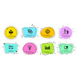 creative idea inspiration and statistics icons vector image vector image