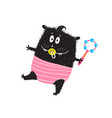 cute monster toddler kid character with dummy vector image vector image