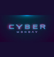 cyber monday sale hud hologram cyberpunk style vector image vector image