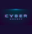 cyber monday sale hud hologram cyberpunk style vector image