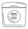 dental floss icon outline style vector image