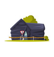 disinfection suburban house home pest control vector image vector image