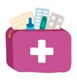 doctor in hospital virus medicines medical set vector image