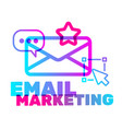 email marketing text with icon concept creative vector image