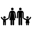 Family symbol isolated vector image vector image