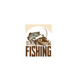 fishing hand drawn vector image vector image