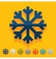 Flat design snowflake vector image