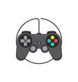 gaming joystick icon vector image
