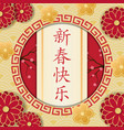 happy new year in chinese congratulatory vector image
