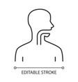 healthy throat linear icon oral cavity pharynx