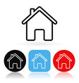 home icon colored icons with house vector image