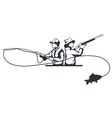 hunter and fisherman vector image vector image