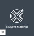 keyword targeting line icon vector image