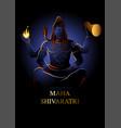 lord shiva hindu god vector image vector image
