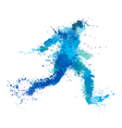 man run splash vector image