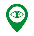 map pin symbol with eye icon vector image