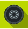 Metal gear icon flat style vector image vector image