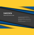 modern background with swedish colors and grey vector image vector image