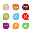modern badges colorful collection 4 vector image vector image