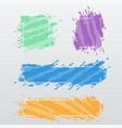 modern banners frames of color brush strokes set vector image