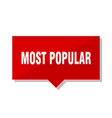 most popular red tag vector image vector image