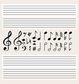 music notes and blank scales vector image vector image