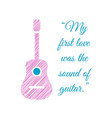 musical quote and guitar vector image