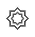 muslim abstract symbol islamic vector image vector image