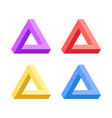 penrose triangle icon vector image vector image