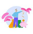 piggy savings bank composition vector image