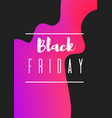 pink abstract black friday banner vector image vector image