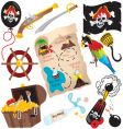 Pirate birthday party icons vector | Price: 3 Credits (USD $3)