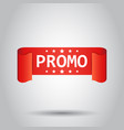 promo ribbon icon discount sticker label on white vector image