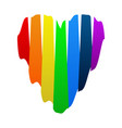 rainbow heart - lgbt on a white background vector image