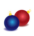 red and blue christmas toys vector image