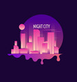 retro of a night city on dark vector image