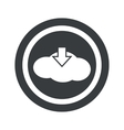Round black cloud download sign vector image vector image