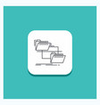 round button for folder file management move copy vector image