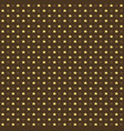 seamless pattern with yellow and brown stars on vector image vector image