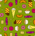 Seamless texture with sweets vector image vector image