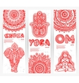 set banners with mandalas and yoga vector image vector image