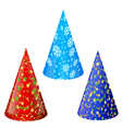 Set of hats for party vector image