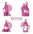 set of wine emblems vector image vector image