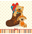 shoes with gifts vector image vector image